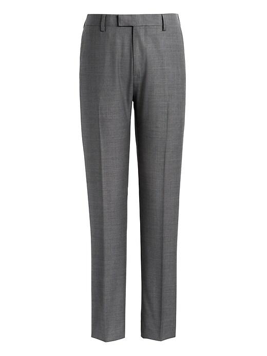 Pantalon de complet en laine italienne, coupe extra cintrée