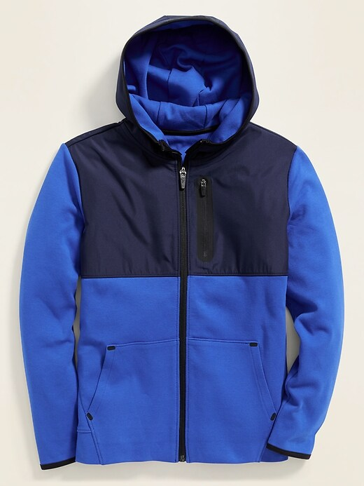 Dynamic Fleece 4-Way-Stretch Color-Block Zip Hoodie for Boys