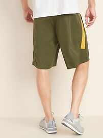 Go-Dry Side-Panel Performance Shorts for Men - 9-inch inseam