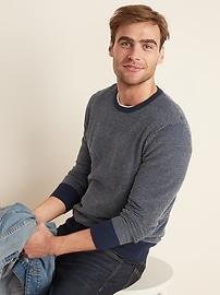 Everyday Textured Crew-Neck Sweater for Men