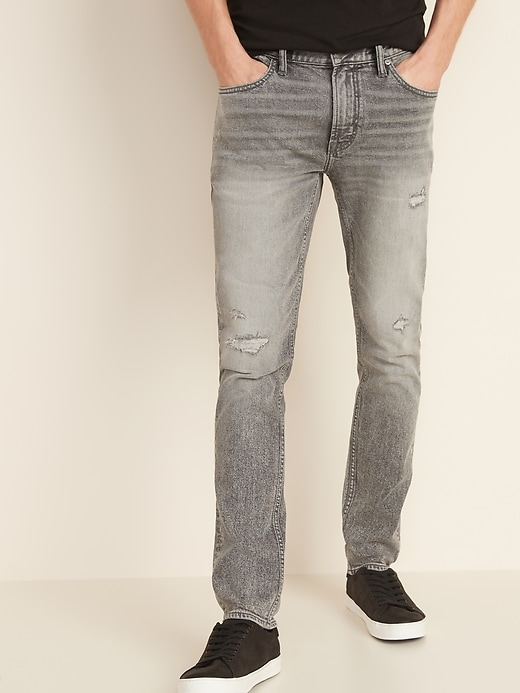 Skinny Built-In Flex Distressed Skinny Jeans For Men