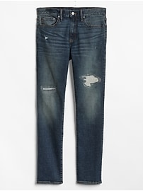 Distressed Skinny Fit Jeans with GapFlex