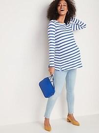 Maternity Mariner-Stripe Boat-Neck Tunic