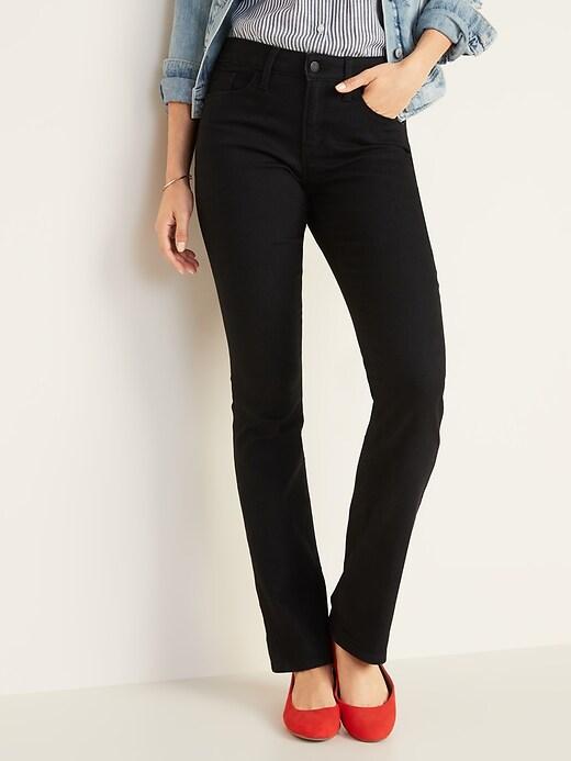 Mid-Rise Kicker Boot-Cut Jeans for Women