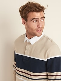 Thick-Knit Jersey Rugby for Men