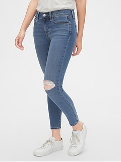 98d72855dc03 Soft Wear Mid Rise True Skinny Ankle Jeans