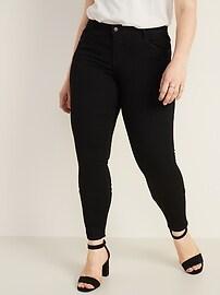 Mid-Rise Black Rockstar Super Skinny Jeans for Women