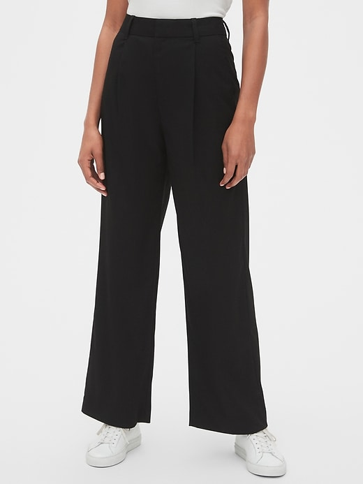 High Rise Pleated Wide-Leg Pants