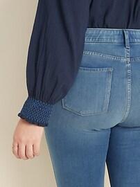 High-Waisted Secret-Slim Pockets + Waistband Plus-Size 24/7 Sculpt Rockstar Jeans