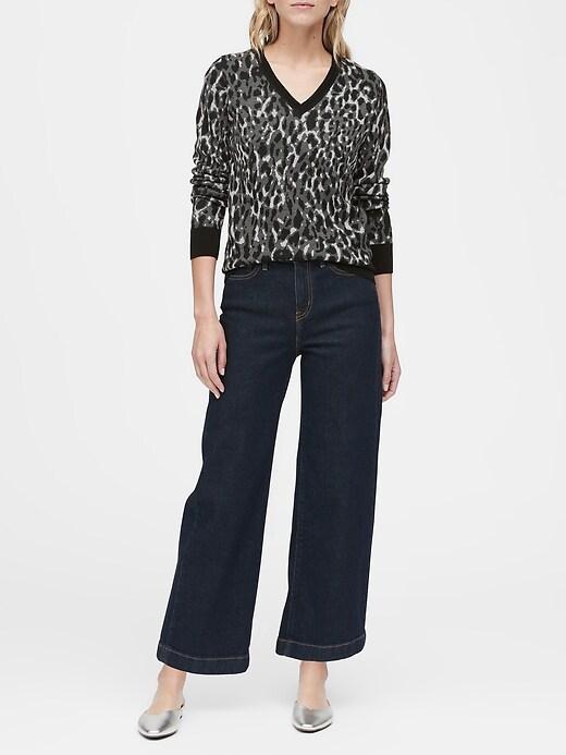 Leopard V-Neck Sweater