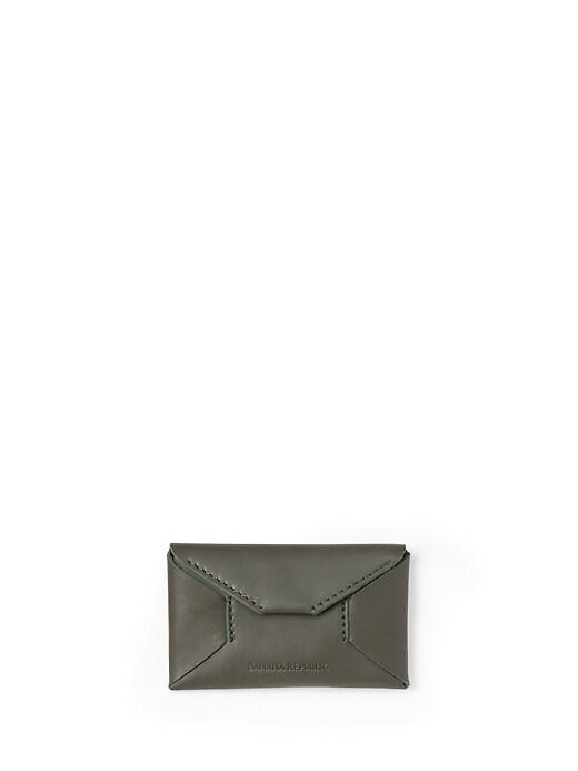 Leather Monocolor Card Case