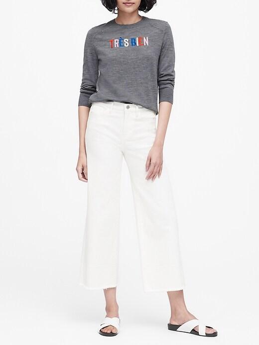 Petite Washable Merino Raglan Sweater