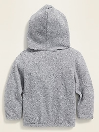 Snap-Front Sweater Hoodie for Baby