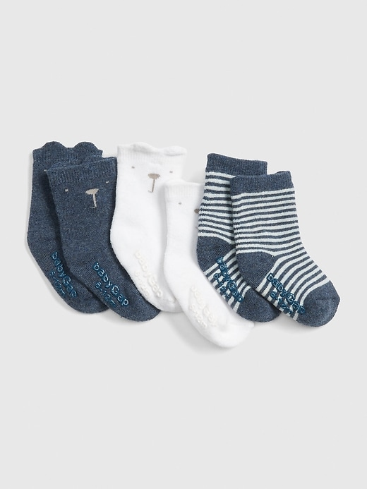 Baby Brannan Bear Crew Socks (3-Pack)
