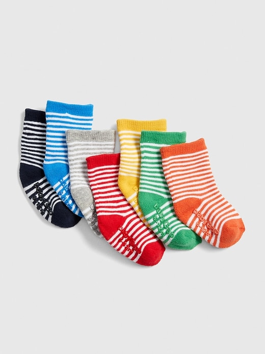 Baby Stripe Crew Socks (7-Pack)