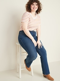 High-Waisted Secret-Slim Pockets Kicker Boot-Cut Plus-Size Jeans