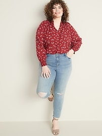 Mid-Rise Plus-Size Pop Icon Skinny Distressed Jeans
