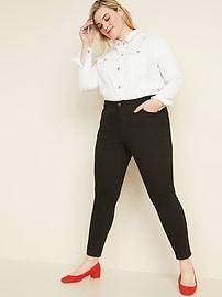 Mid-Rise Plus-Size Pop Icon Skinny Black Jeans