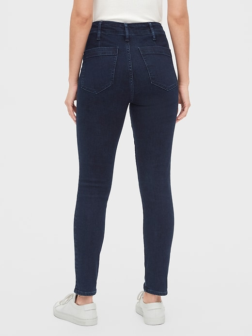 High Rise True Skinny Sailor Ankle Jeans with Secret Smoothing Pockets