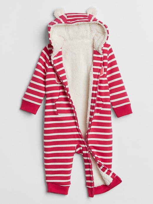 Baby Sherpa-Lined Hoodie One-Piece