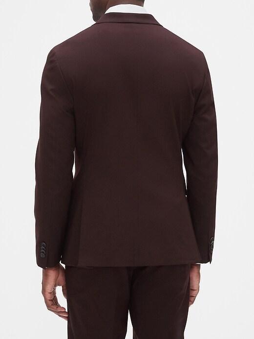 Extra Slim-Fit Stretch Burgundy Blazer