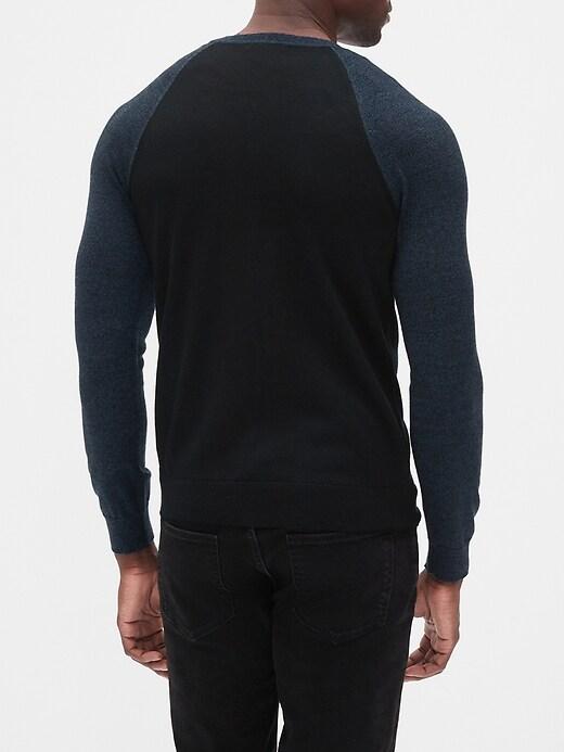 Washable Merino Wool Blend Sweater