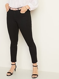 Low-Rise Pop Icon Skinny Black Jeans for Women