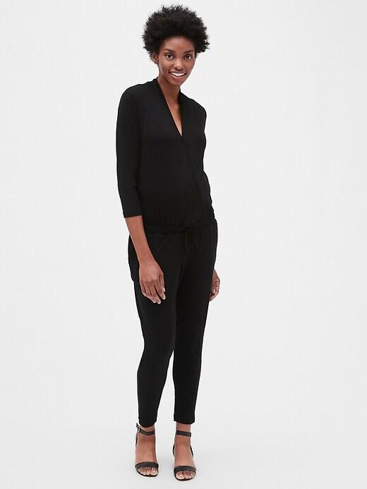 Maternity Wrap Jumpsuit