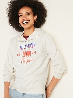 ae3771e5b753f0 French Terry Logo-Graphic Pullover Hoodie for Women