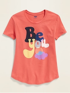 cc2bd818 Graphic Crew-Neck Tee for Girls