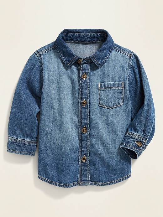 Long-Sleeve Jean Shirt for Baby