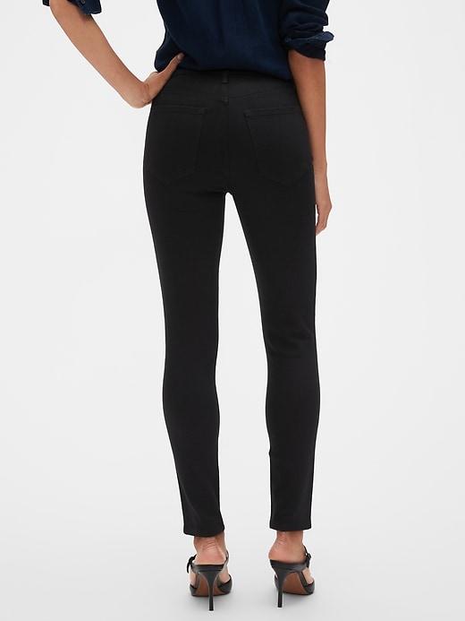 High Rise Fade Resist Black Skinny Jean