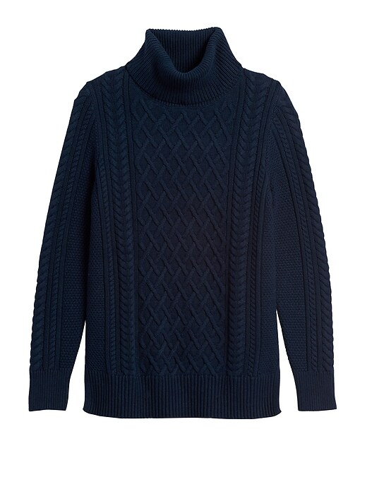 Cable-Knit Sweater Tunic