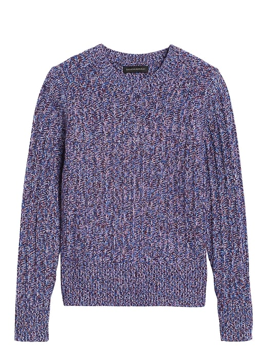 Marled Wool-Blend Sweater