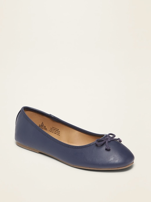 Faux-Leather Ballet Flats for Girls