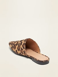 Faux-Suede Pointy-Toe Mule Flats for Women