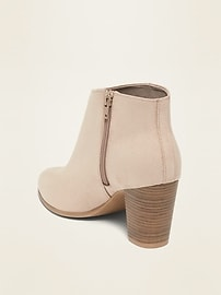 Faux-Suede High-Heel Booties for Women