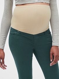 Maternity Full Panel True Skinny Jeans in Color