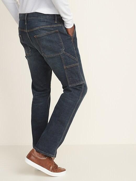 Straight Built-In Flex Carpenter Jeans For Men