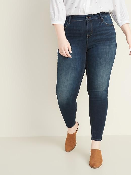 High-Waisted Rockstar Plus-Size Super Skinny Jeans