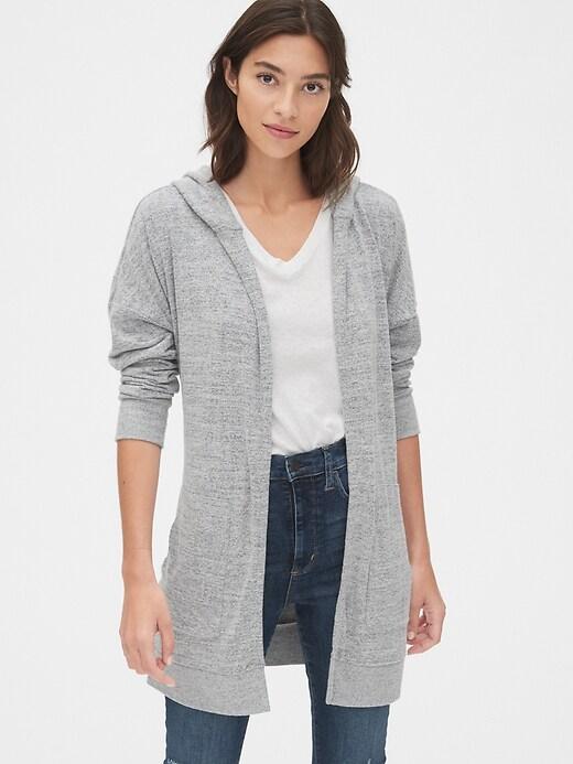 Softspun Longline Hooded Cardigan