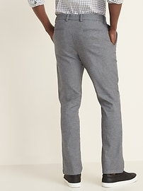 Straight Built-In Flex Textured Ultimate Chinos for Men