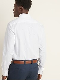 Regular-Fit Built-In Flex Signature Non-Iron Dress Shirt For Men