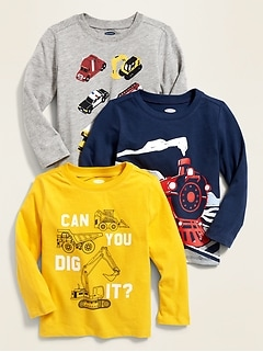 2b49f5c20f8389 Graphic Long-Sleeve Tee 3-Pack for Toddler Boys