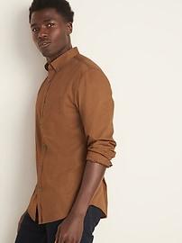 Chemise en popeline à coupe cintrée pour homme