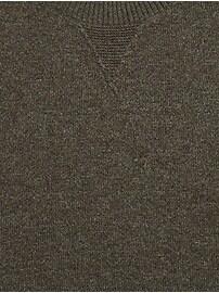 Merino-Yak Blend Crew-Neck Sweater