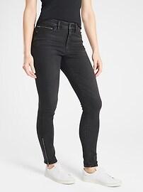 Sculptek&#153 Ultra Skinny Zip Jean Carbon Wash
