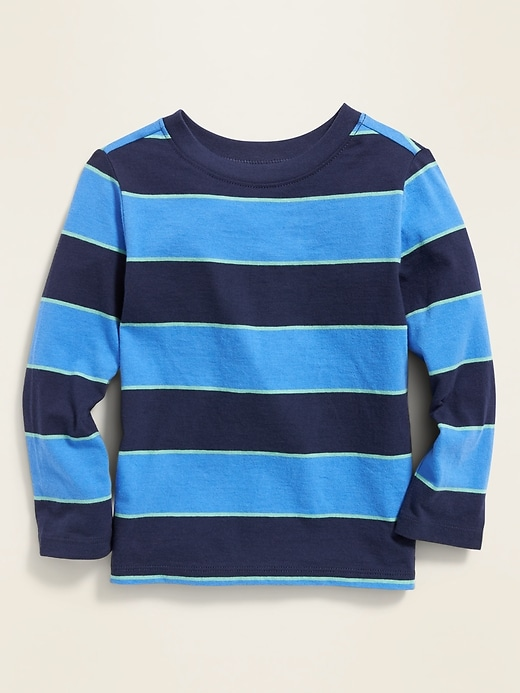 Striped Long-Sleeve Tee for Toddler Boys