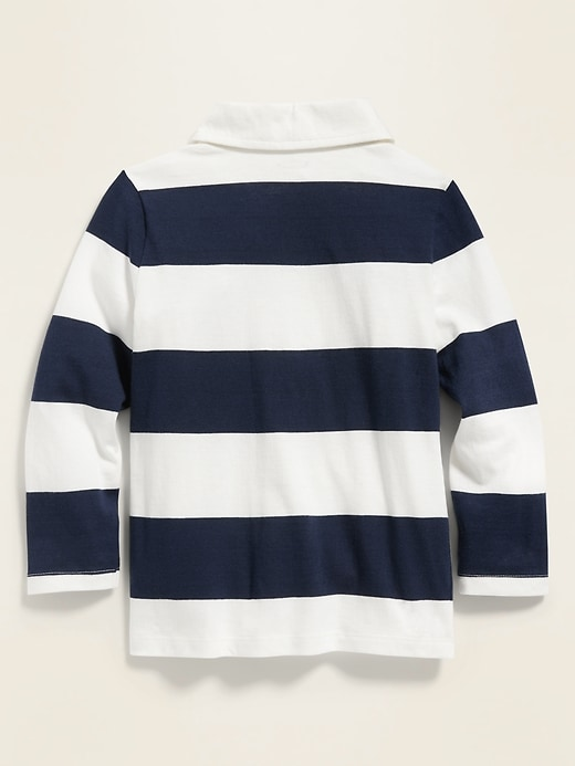 Rugby-Stripe Jersey Polo for Toddler Boys