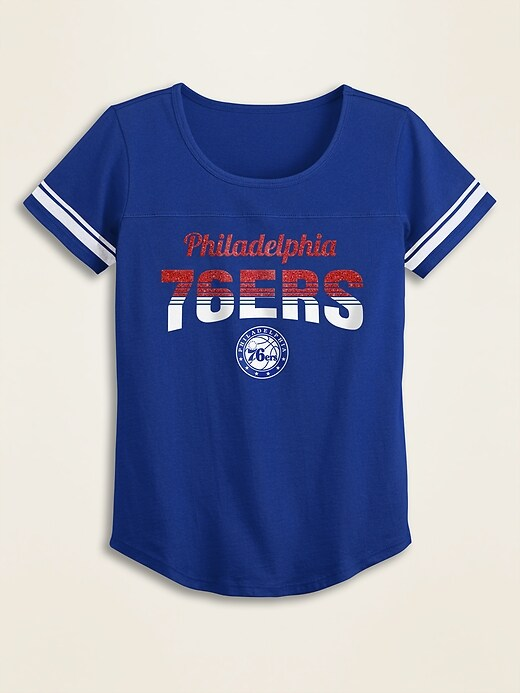 NBA&#174 Team-Graphic Sleeve-Stripe Tee for Girls